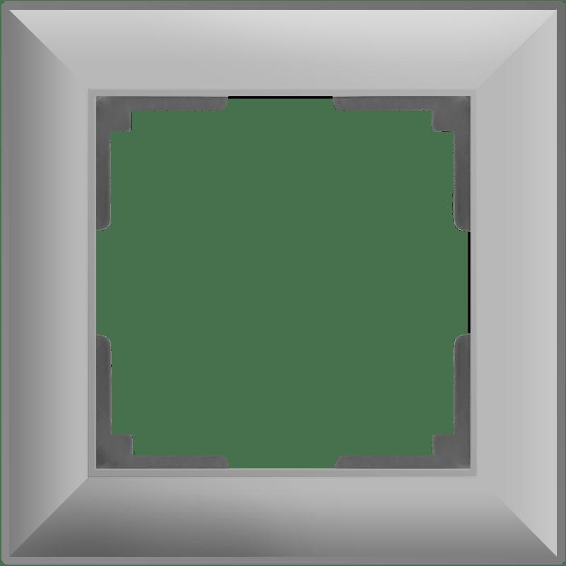 WL14-Frame-01/ Рамка на 1 пост (серебряный)