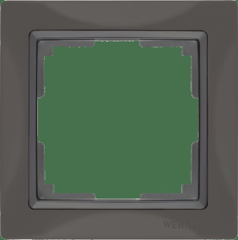 WL03-Frame-01/ Рамка на 1 пост (серо-коричневый, basic)