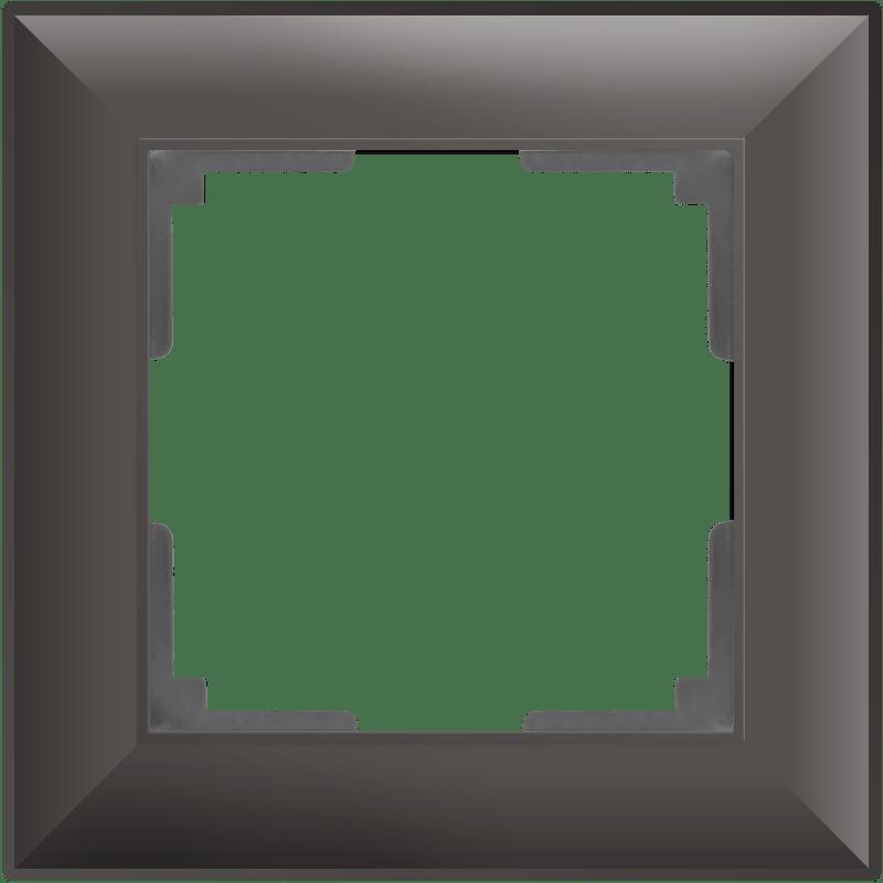 WL14-Frame-01/ Рамка на 1 пост (серо-коричневый)