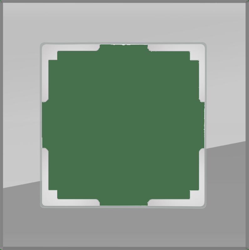 WL01-Frame-01 / Рамка на 1 пост (серый,стекло)