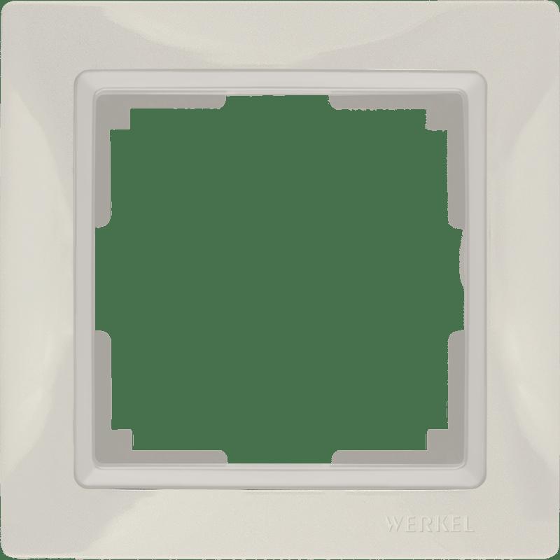 WL03-Frame-01/ Рамка на 1 пост (слоновая кость, basic)