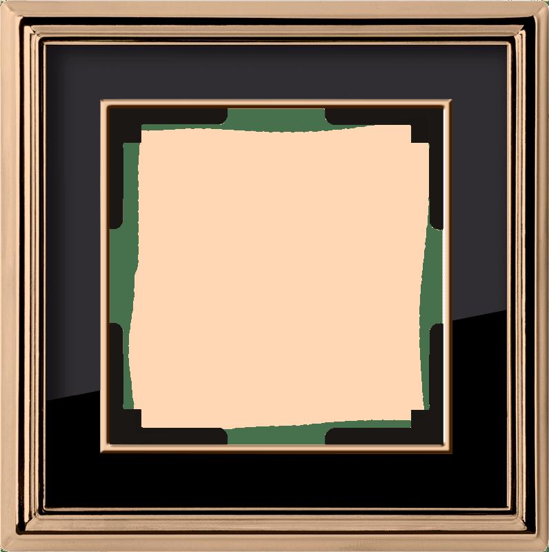WL17-Frame-01/ Рамка на 1 пост (золото/черный)