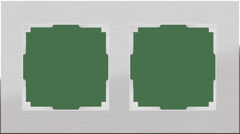 WL11-Frame-02 / Рамка на 2 поста (алюминий)
