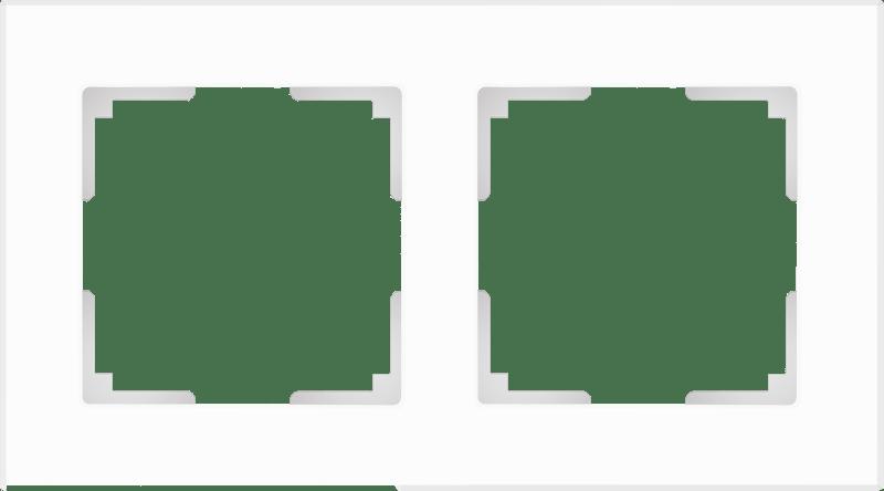 WL01-Frame-02 / Рамка на 2 поста (белый матовый,стекло)