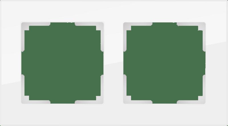 WL01-Frame-02 / Рамка на 2 поста (белый,стекло)