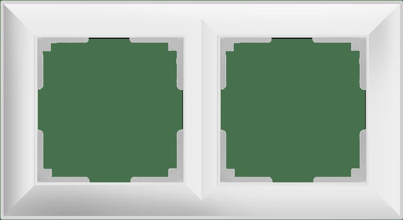 WL14-Frame-02/ Рамка на 2 поста (белый)
