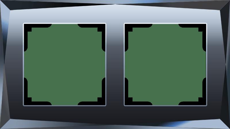 WL08-Frame-02/Рамка на 2 поста  (черный)
