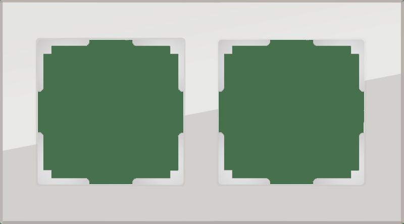 WL01-Frame-02 / Рамка на 2 поста (дымчатый,стекло)