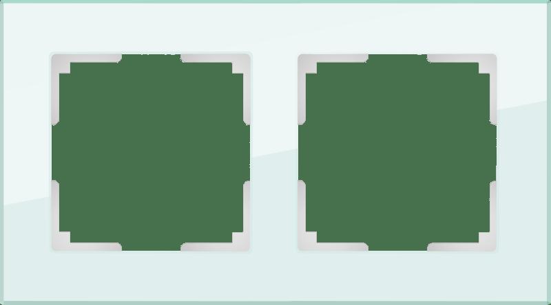 WL01-Frame-02 / Рамка на 2 поста (натуральное стекло,стекло)