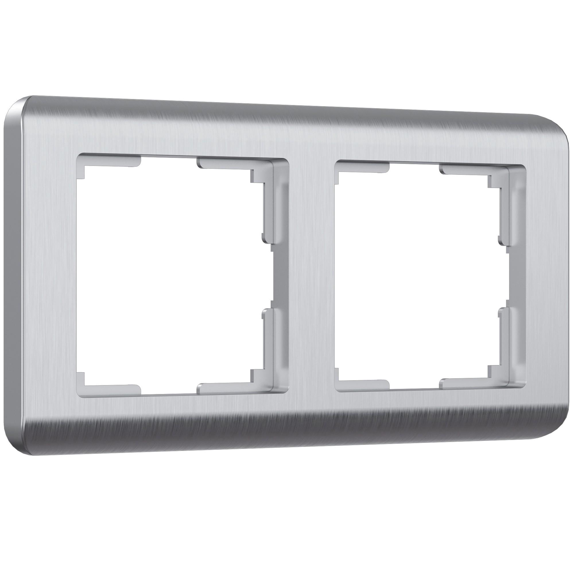 WL12-Frame-02 / Рамка на 2 поста (серебряный)