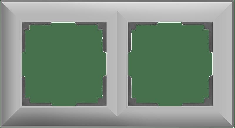WL14-Frame-02/ Рамка на 2 поста (серебряный)