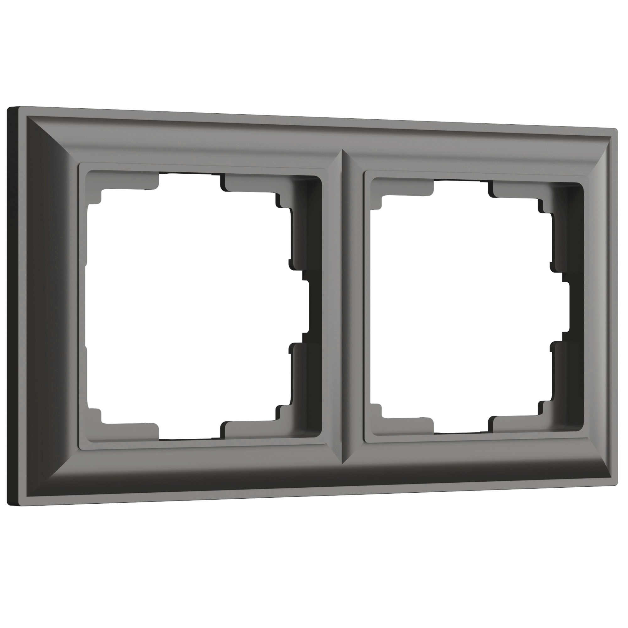 WL14-Frame-02/ Рамка на 2 поста (серо-коричневый)