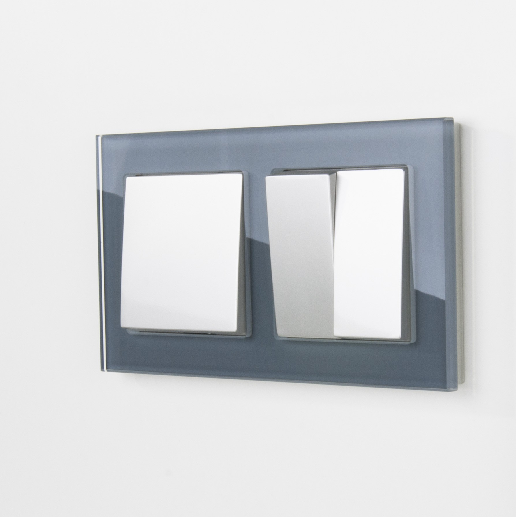 WL01-Frame-02 / Рамка на 2 поста (серый,стекло)