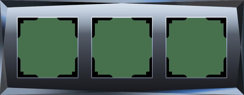 WL08-Frame-03/Рамка на 3 поста  (черный)
