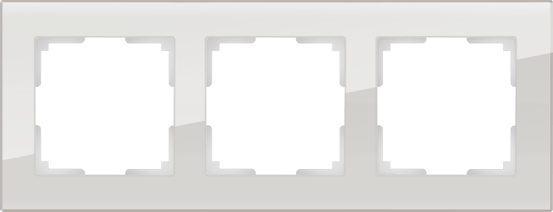 WL01-Frame-03 / Рамка на 3 поста (дымчатый,стекло)