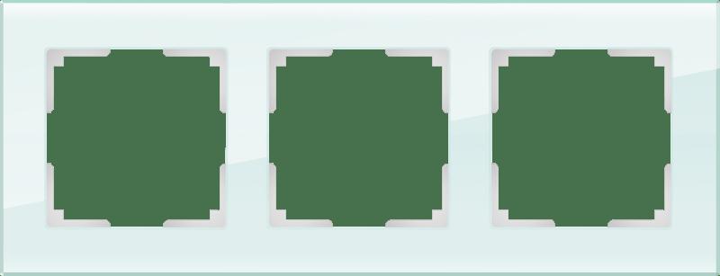 WL01-Frame-03 / Рамка на 3 поста (натуральное стекло,стекло)