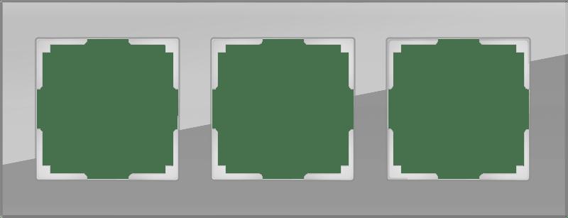 WL01-Frame-03 / Рамка на 3 поста (серый,стекло)