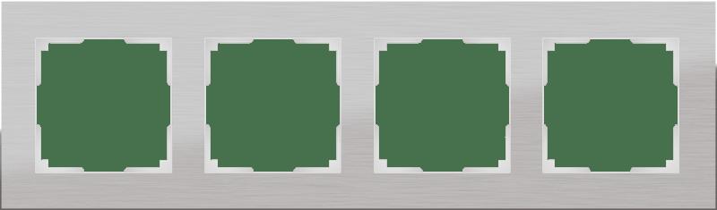 WL11-Frame-04 / Рамка на 4 поста (алюминий)