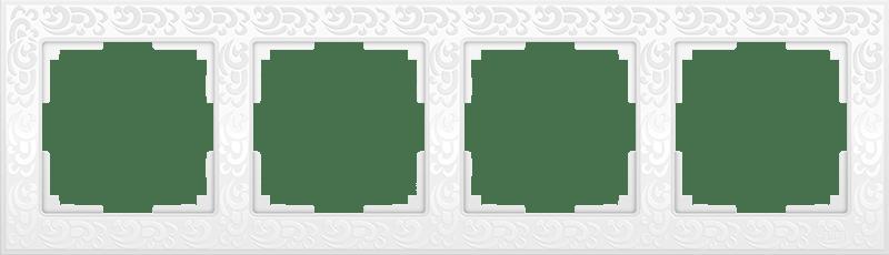 WL05-Frame-04-white / Рамка на 4 поста (белый)