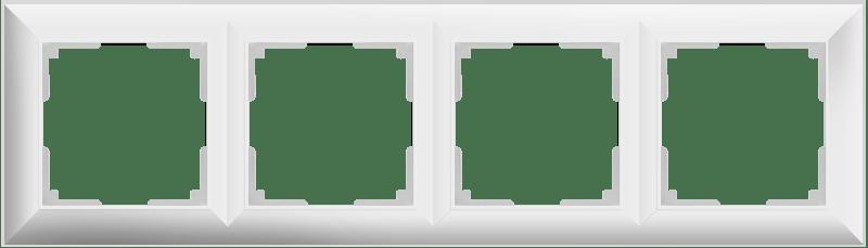WL14-Frame-04/ Рамка на 4 поста (белый)