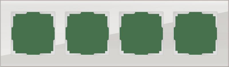 WL01-Frame-04 / Рамка на 4 поста (дымчатый,стекло)