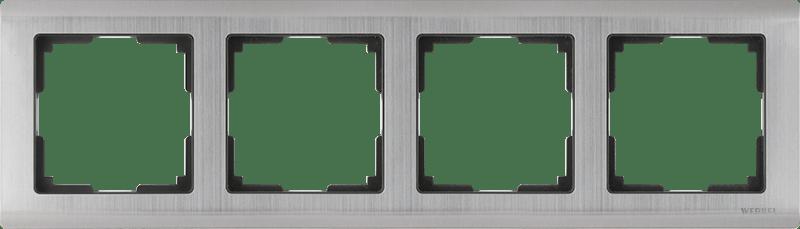 WL02-Frame-04 / Рамка на 4 поста (глянцевый никель)