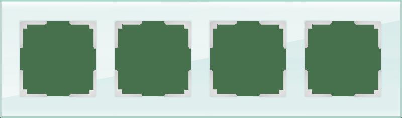 WL01-Frame-04 / Рамка на 4 поста (натуральное стекло,стекло)
