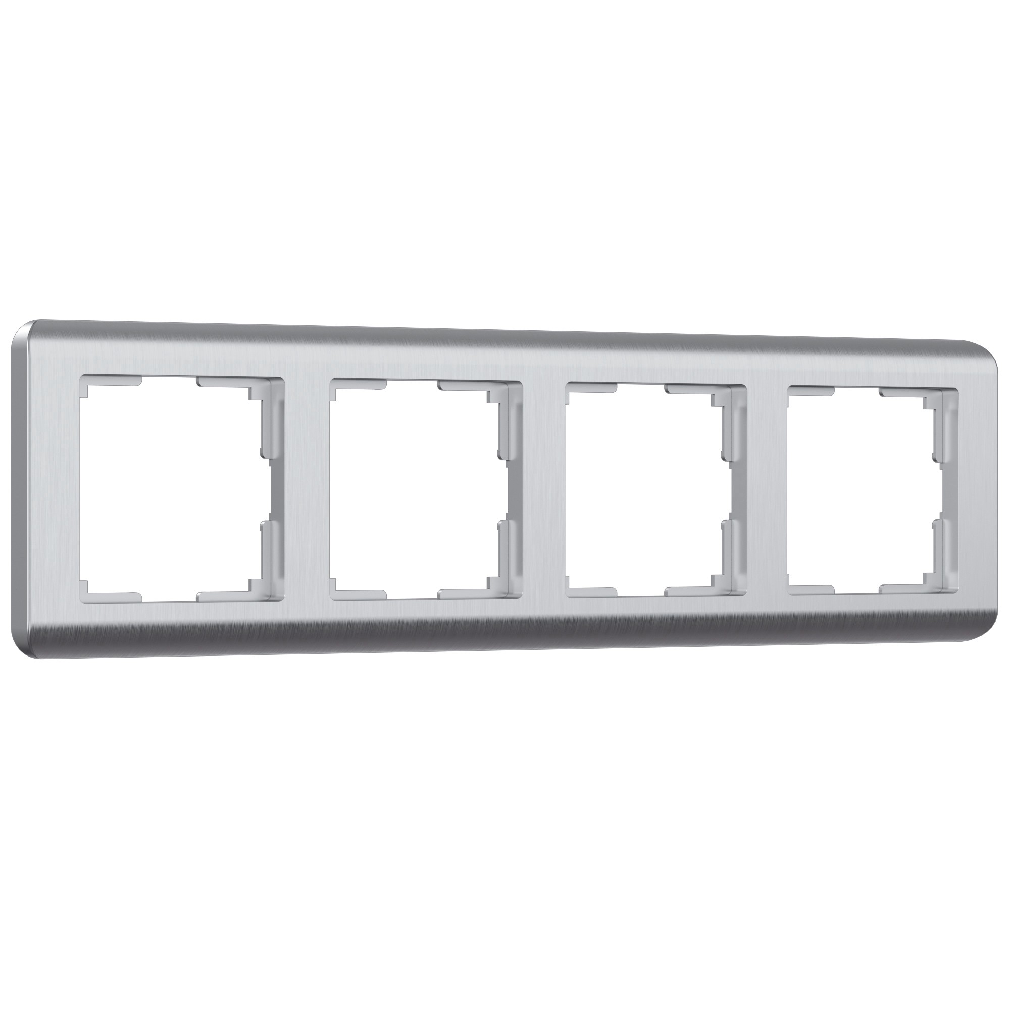WL12-Frame-04 / Рамка на 4 поста  (серебряный)