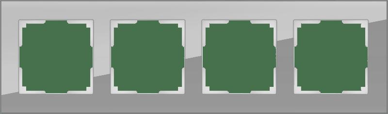 WL01-Frame-04 / Рамка на 4 поста (серый,стекло)