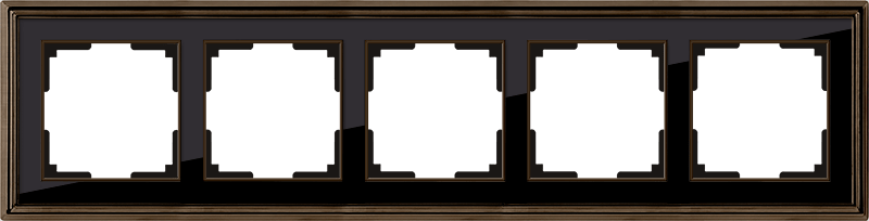 WL17-Frame-05/ Рамка на 5 постов (бронза/черный)