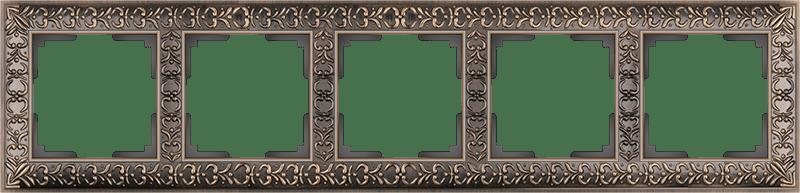 WL07-Frame-05/Рамка на 5 постов  (бронза)