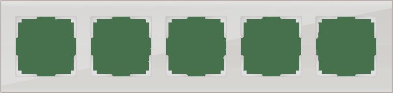 WL01-Frame-05 / Рамка на 5 постов (дымчатый,стекло)