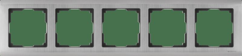 WL02-Frame-05 / Рамка на 5 постов (глянцевый никель)