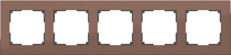 WL11-Frame-05 / Рамка на 5 постов (коричневый алюминий)