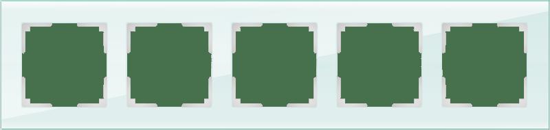 WL01-Frame-05 / Рамка на 5 постов (натуральное стекло,стекло)