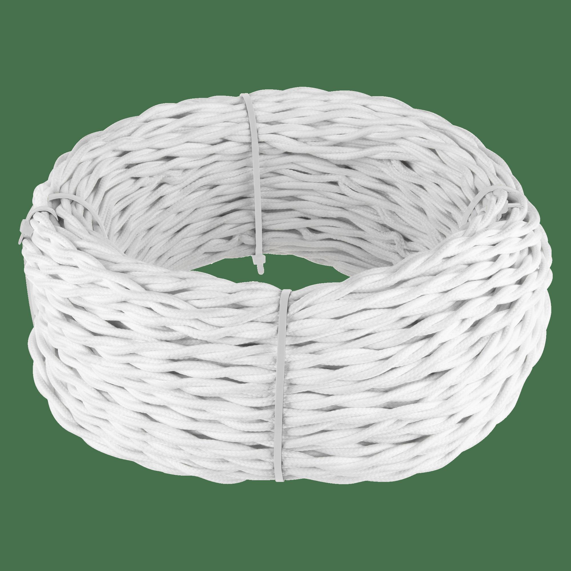 Ретро кабель витой  2х2,5  (белый)