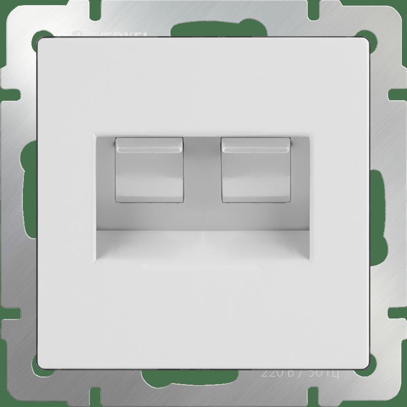 WL01-RJ45+RJ45 / Розетка двойная Ethernet RJ-45 (белая)