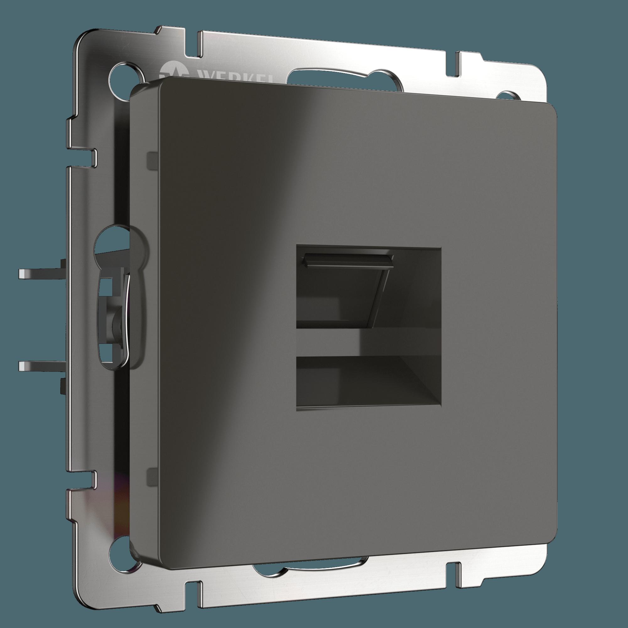 WL07-RJ-45/ Розетка Ethernet RJ-45 (серо-коричневый)