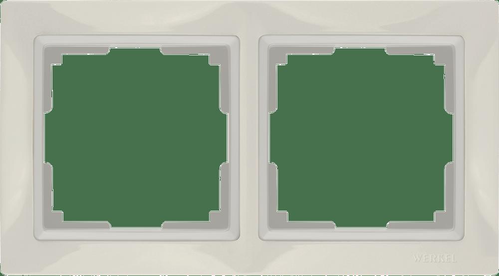 WL03-Frame-02/ Рамка на 2 поста (слоновая кость, basic)
