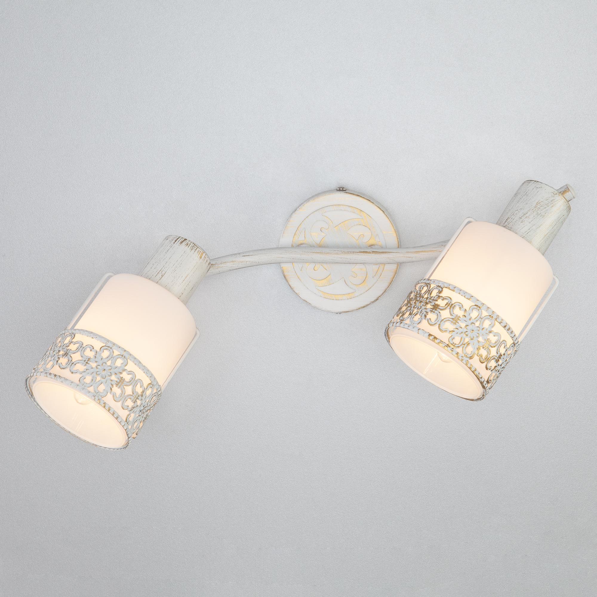 Настенный светильник Eurosvet 20025/2 белый с золотом