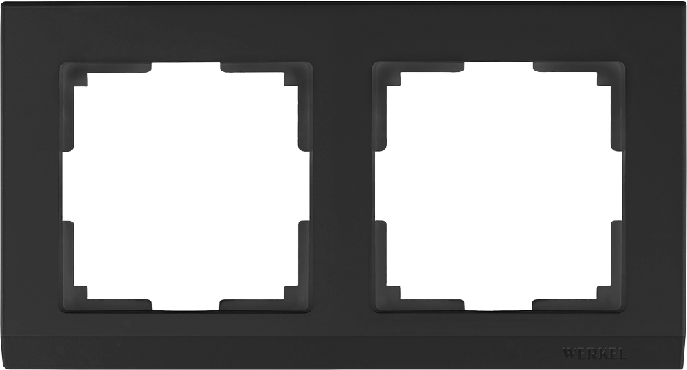 WL04-Frame-02-black /Рамка на 2 поста (черный)