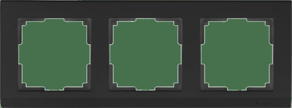 WL04-Frame-03-black / Рамка на 3  поста (черный)