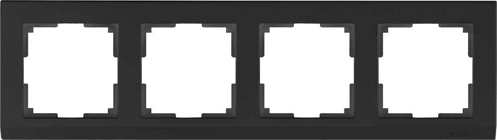 WL04-Frame-04-black / Рамка на 4 поста (черный)