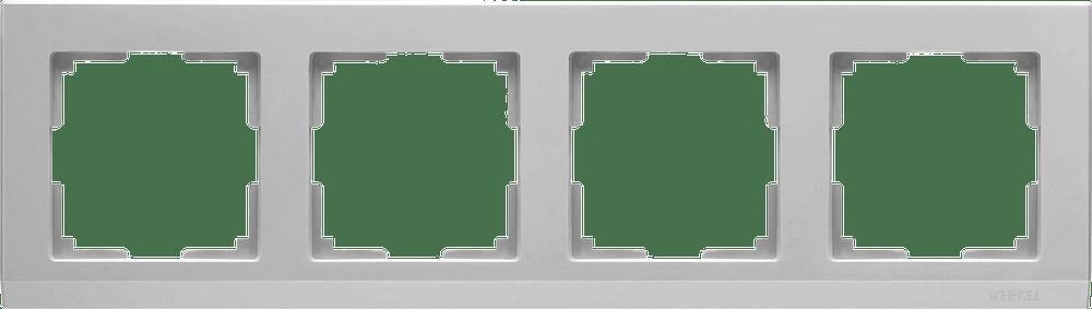 WL04-Frame-04 /Рамка на 4 поста (серебряный)
