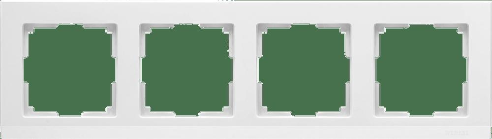 WL04-Frame-04-white / Рамка на 4 поста (белый)
