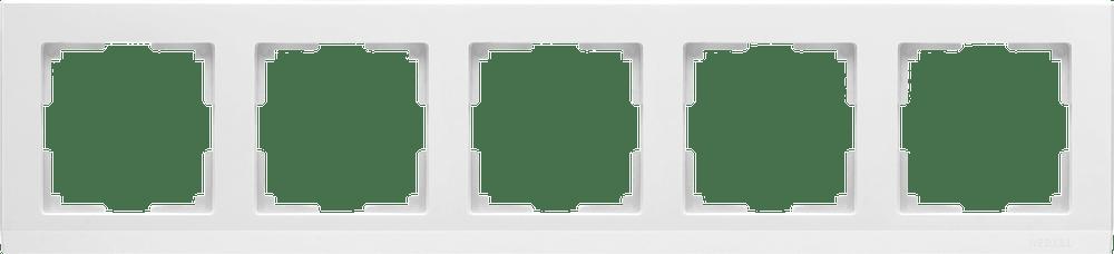WL04-Frame-05-white / Рамка на 5 постов (белый)