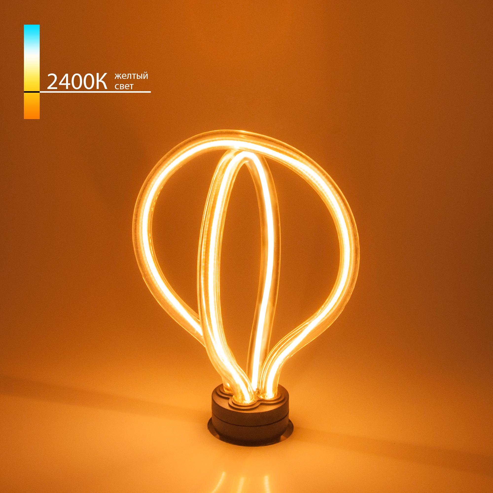 Art filament 8W 2400K E27 double round (BL151)