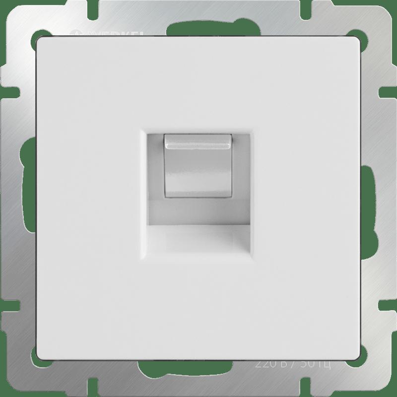 WL01-RJ-11 / Телефонная розетка  RJ-11 (белая)