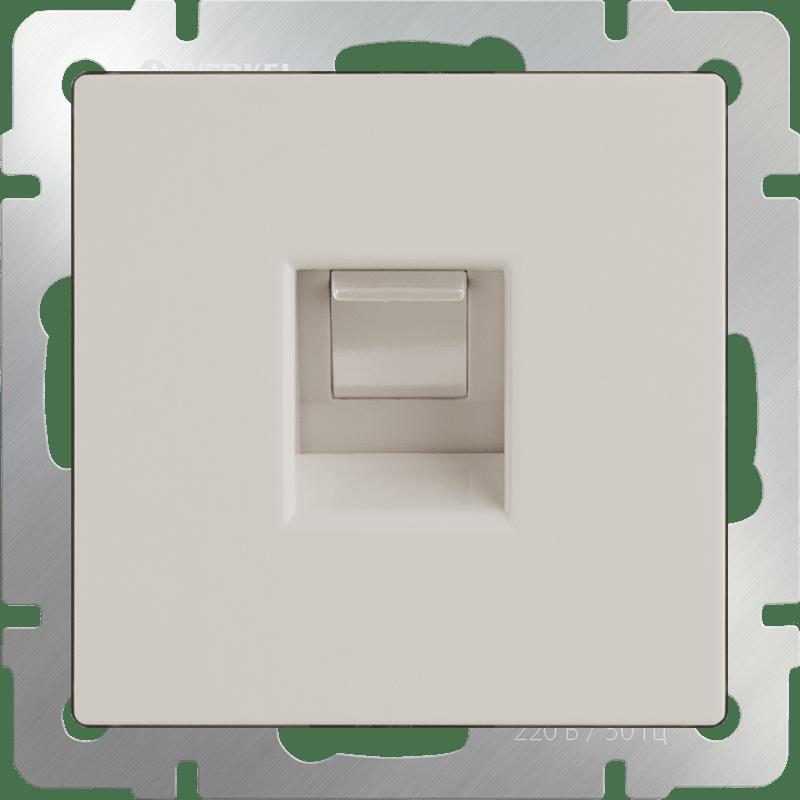 WL03-RJ-11-ivory /Телефонная розетка  RJ-11(слоновая кость)