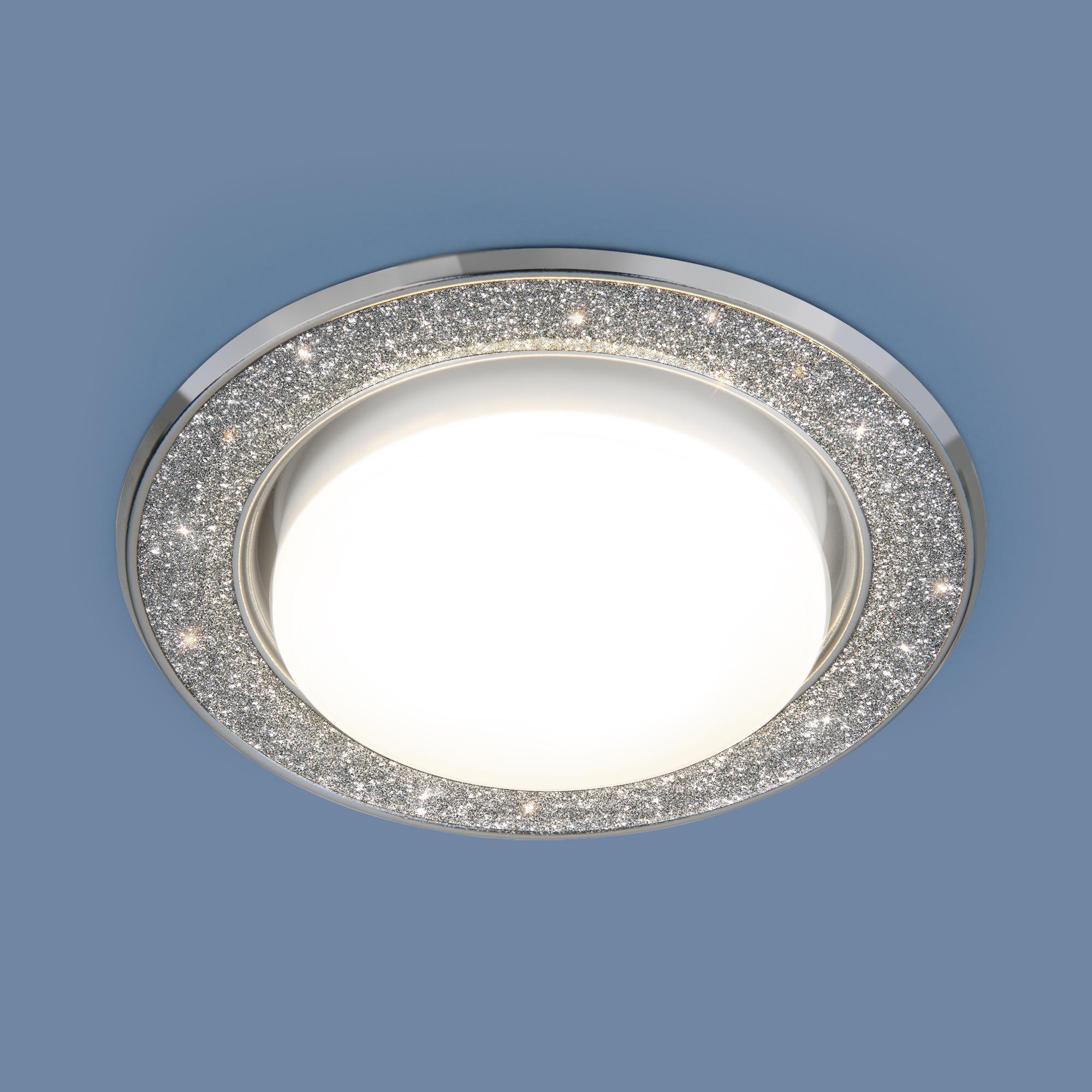 1072 GX53 SL/СН серебряный блеск/хром